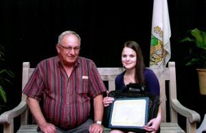 Camille Gonthier, gagnante pour l'école secondaire La Rencontre de Saint-Pamphile